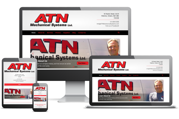 ATN Mechanical Systems - Website by Gecko Websites