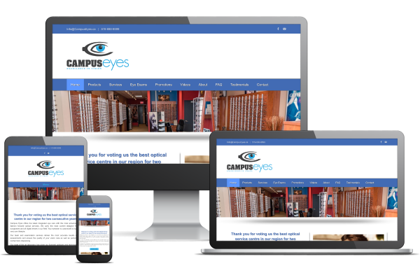 Campus Eyes - Website by Gecko Websites