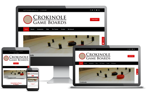 Crokinole Game Boards - Website by Gecko Websites