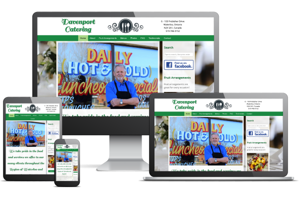 Davenport Catering - Website by Gecko Websites