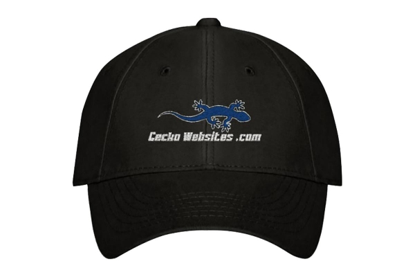 Gecko Websites Baseball Cap - Black, Front