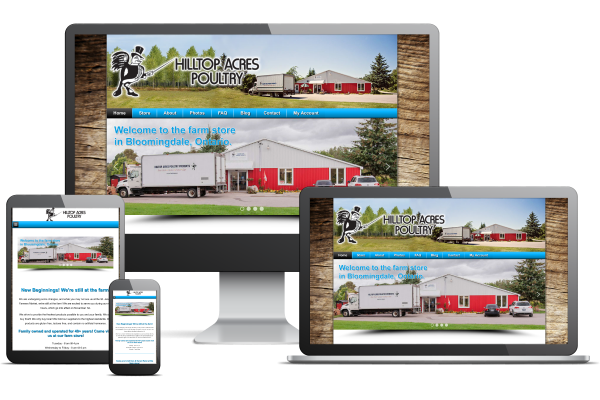 Hilltop Acres Poultry - Website by Gecko Websites