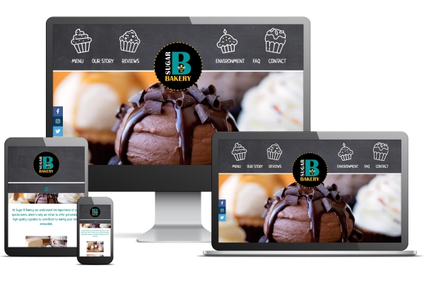 Sugar B Bakery Website by Gecko Websites