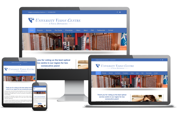 University Vision Centre - Website by Gecko Websites
