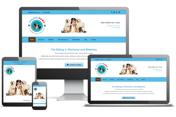 Walkin' Paws - Website by Gecko Websites
